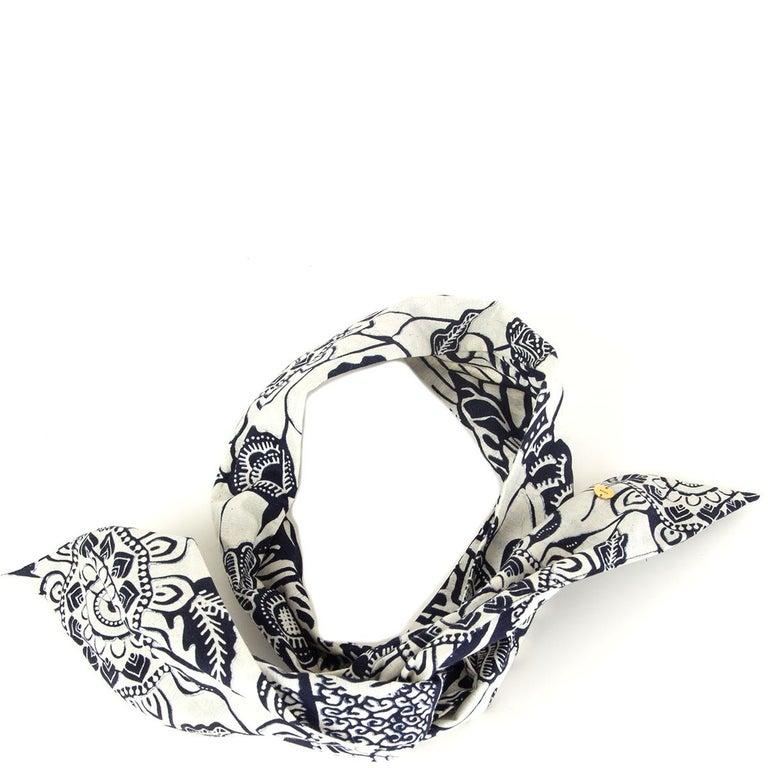 Gray CHRISTIAN DIOR black & white cotton TOILE DE JOUY Headband For Sale