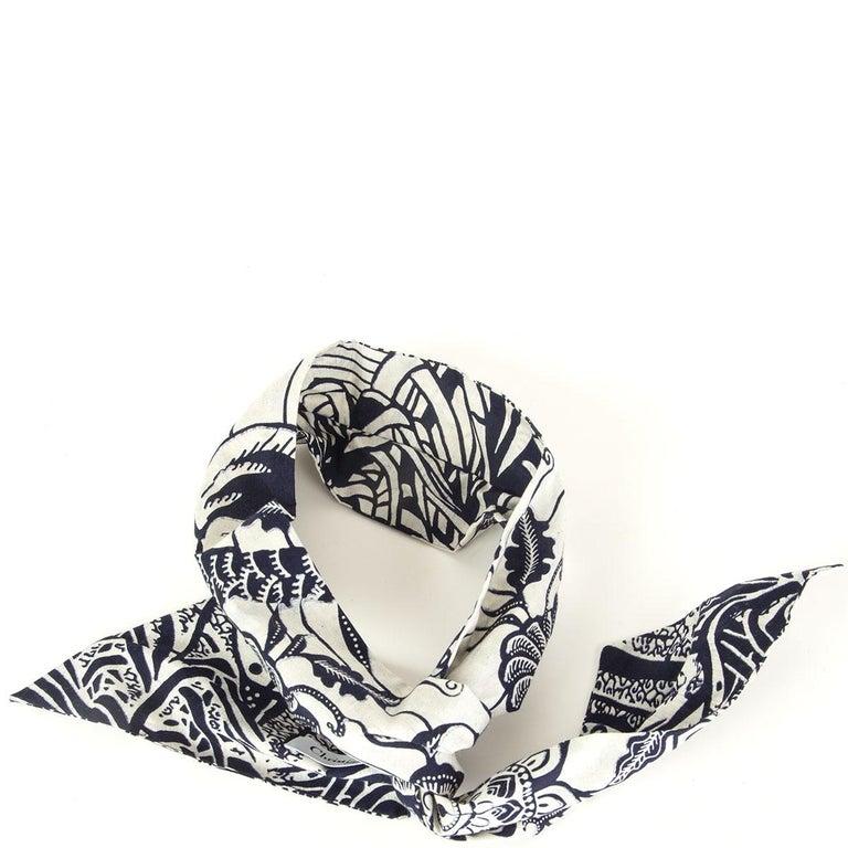 CHRISTIAN DIOR black & white cotton TOILE DE JOUY Headband In Excellent Condition For Sale In Zürich, CH