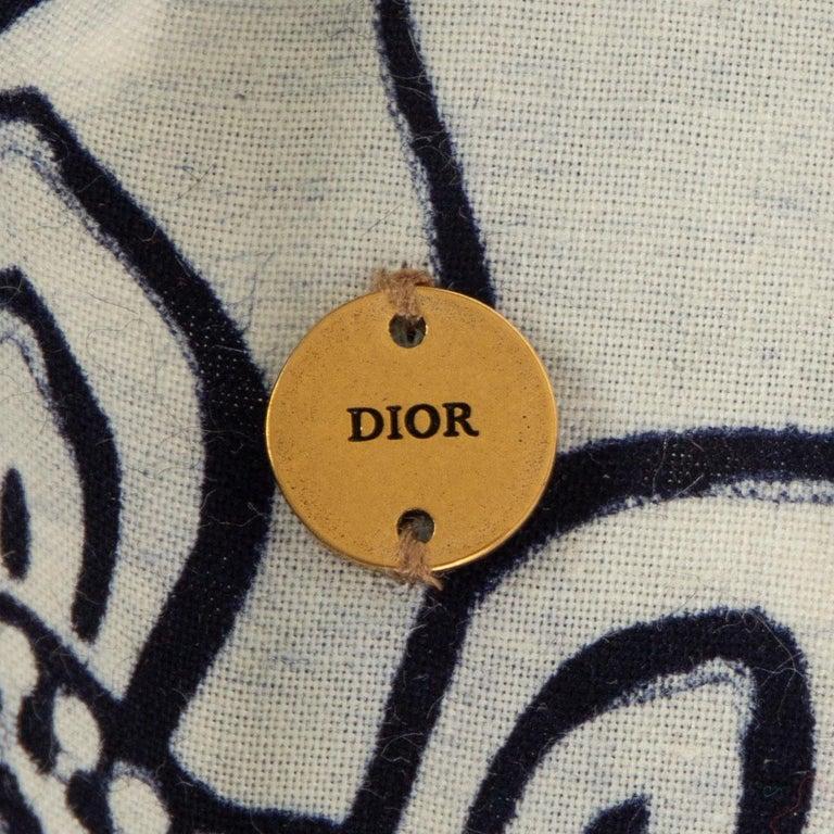 Women's or Men's CHRISTIAN DIOR black & white cotton TOILE DE JOUY Headband For Sale