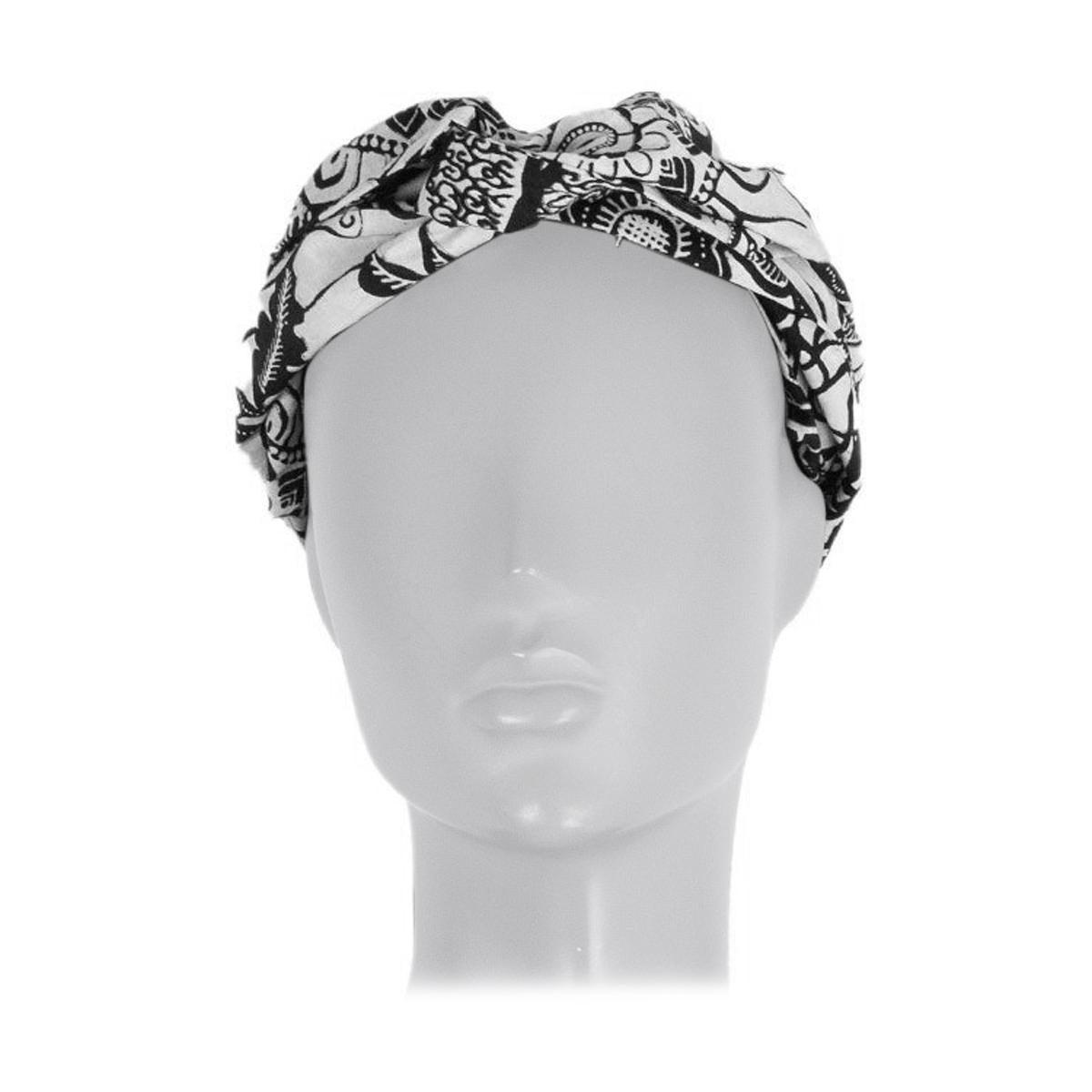 CHRISTIAN DIOR black & white cotton TOILE DE JOUY Headband