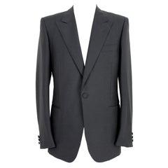 Christian Dior Black Wool Tuxedo Jacket 1970s