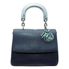 Christian Dior Blue & Metallic Teal Be Double Satchel