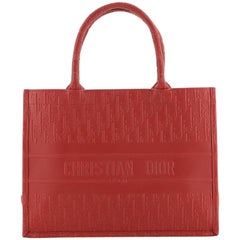 Christian Dior Book Tote Oblique Embossed Calfskin Small