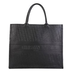 Christian Dior Book Tote Oblique Embossed Leather