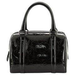Christian Dior Boston Bag Embossed Patent Mini