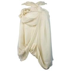 Christian Dior Boutique Paris White Silk Sleeveless Top Size 38