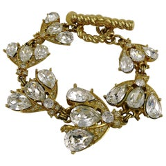 Christian Dior Boutique Vintage Iconic Jewelled Bee Bracelet