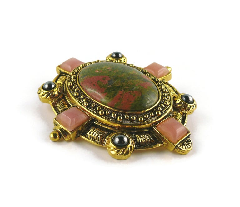 Christian Dior Boutique Vintage Massive Brooch Pendant In Good Condition For Sale In Nice, FR