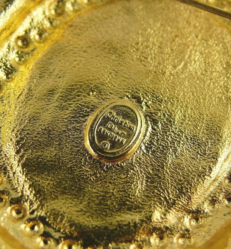Christian Dior Boutique Vintage Massive Brooch Pendant For Sale 5