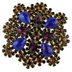 Christian Dior Boutique Vintage Massive Jewelled Brooch Pendant