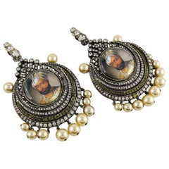 Christian Dior Boutique Vintage Mughal Maharaja Dangling Earrings