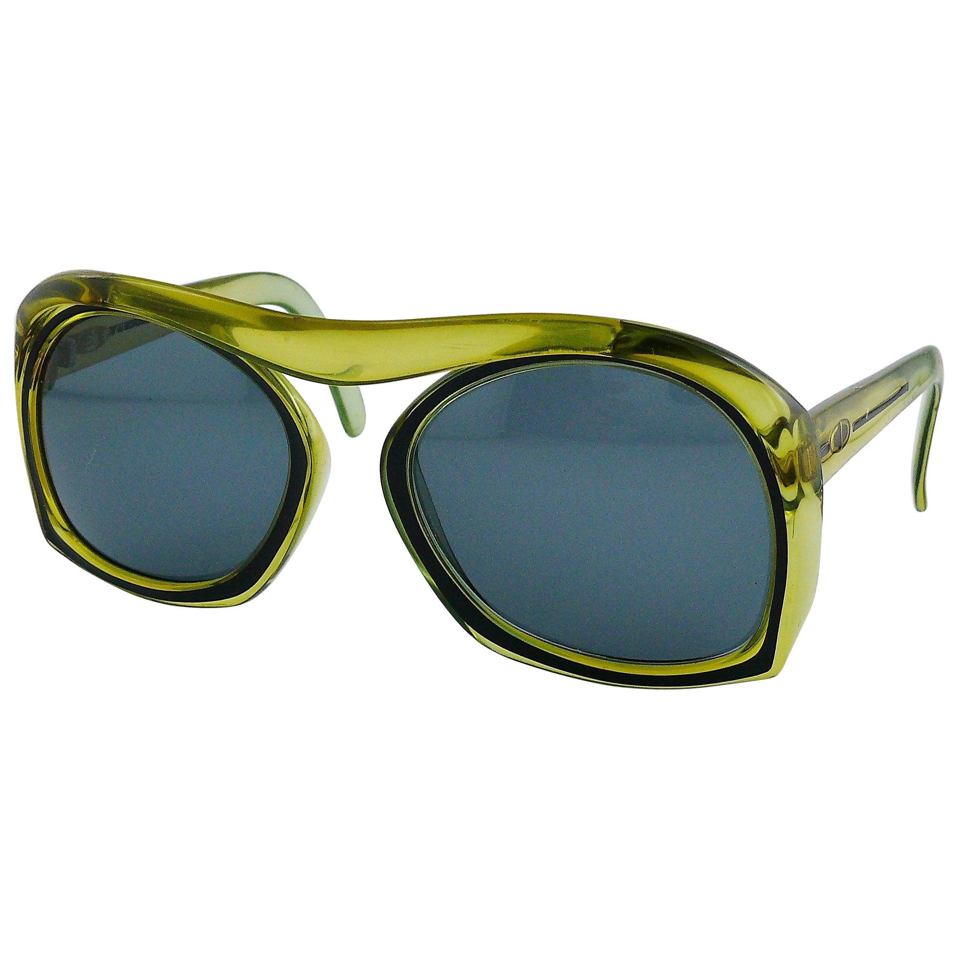 Christian Dior Bridgeless Oversized Space Age Sunglasses Mod. 2043