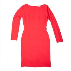 CHRISTIAN DIOR Bright Red Dress in Wool Size 36/38FR