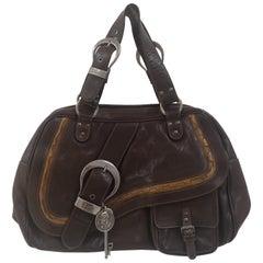 Christian Dior brown Gaucho shoulder bag