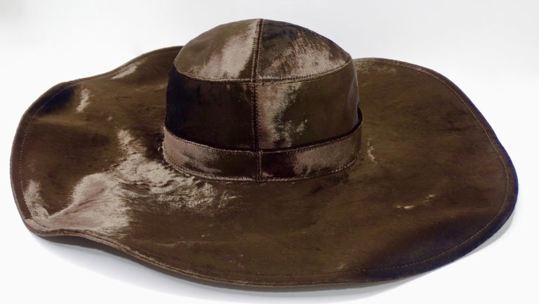 Christian Dior Brown Velvet Hat For Sale 1