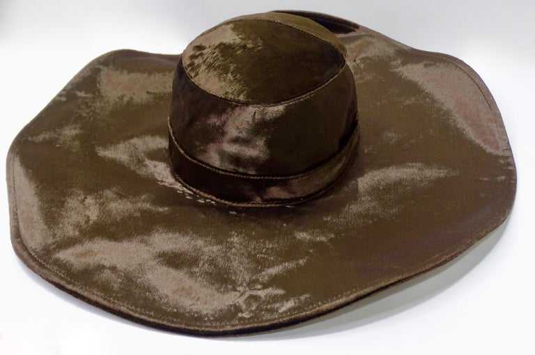 Christian Dior Brown Velvet Hat For Sale 3