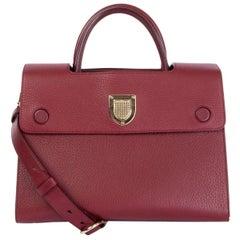 CHRISTIAN DIOR burgundy leather DIOREVER MEDIUM Shoulder Bag
