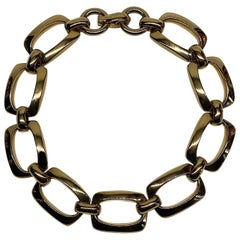 Christian Dior, by Henke & Grosse, 1970s Gold Link Necklace