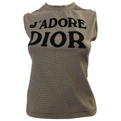 65d4b267c Christian Dior by John Galliano 2004 Houndstooth J'Adore Dior Top ...
