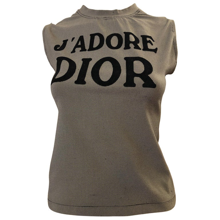Christian Dior by John Galliano 2004 Houndstooth J'Adore Dior Top 40 Fr For Sale