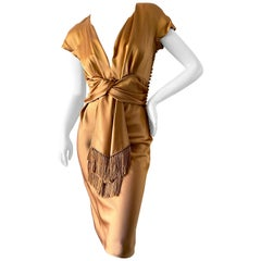 Christian Dior by John Galliano 2007 Gold Dress with Fringe Details