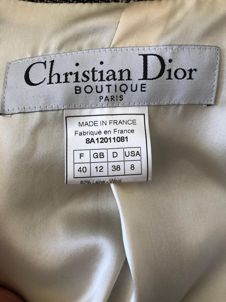 Christian Dior by John Galliano A' 98 Gray Jacket w Huge Collar & Padded Hips In Excellent Condition For Sale In San Francisco, CA