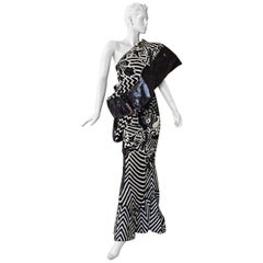 "Christian Dior by John Galliano Asian Kabuki ""Elvira"" Runway Gown -  NWT Rare!"