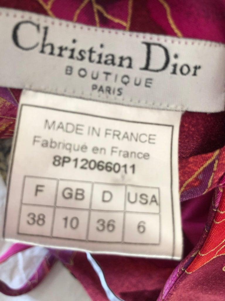 Christian Dior by John Galliano Bias Cut Ombre Silk Evening Dress w Ruffled Hem For Sale 6