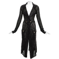 Christian Dior by John Galliano black rayon knitted evening cardigan, ss 1999