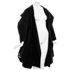 Christian Dior by John Galliano black silk bustled opera coat, ss 1999