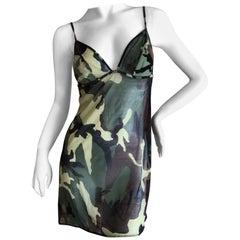 Christian Dior by John Galliano Camo Slip Dress
