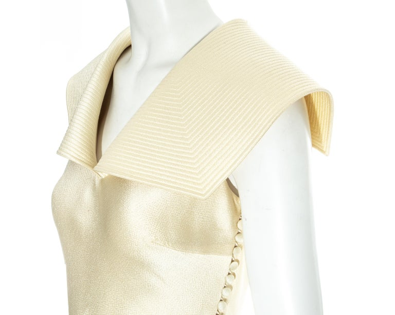 Christian Dior by John Galliano champagne silk evening dress, fw 1999 In Good Condition For Sale In London, GB