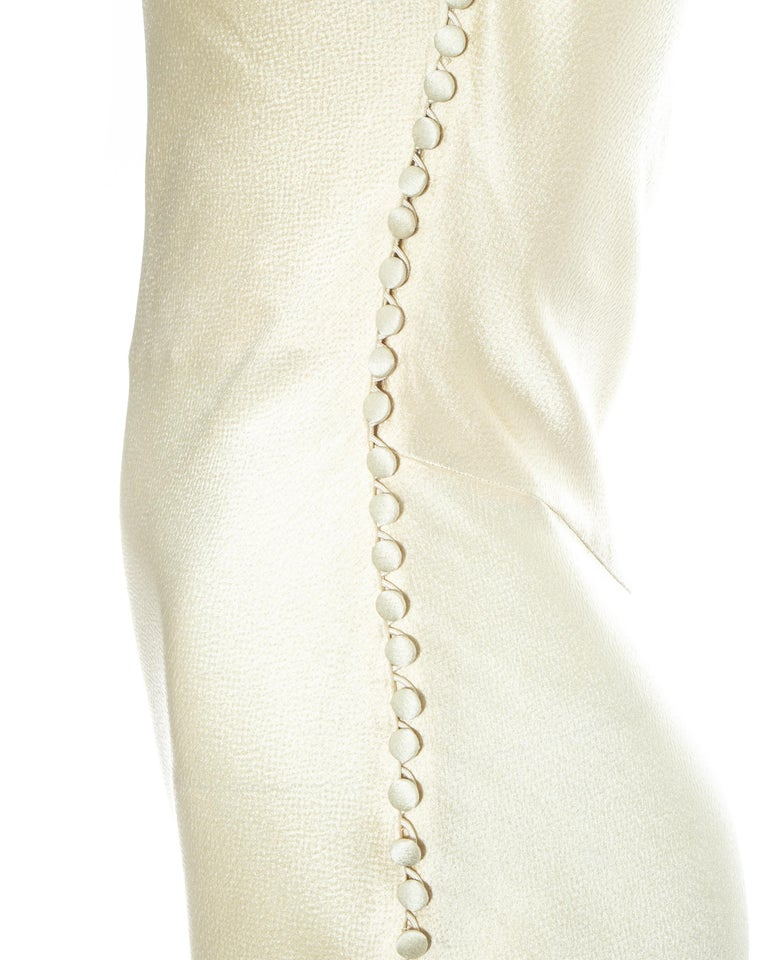Women's Christian Dior by John Galliano champagne silk evening dress, fw 1999 For Sale