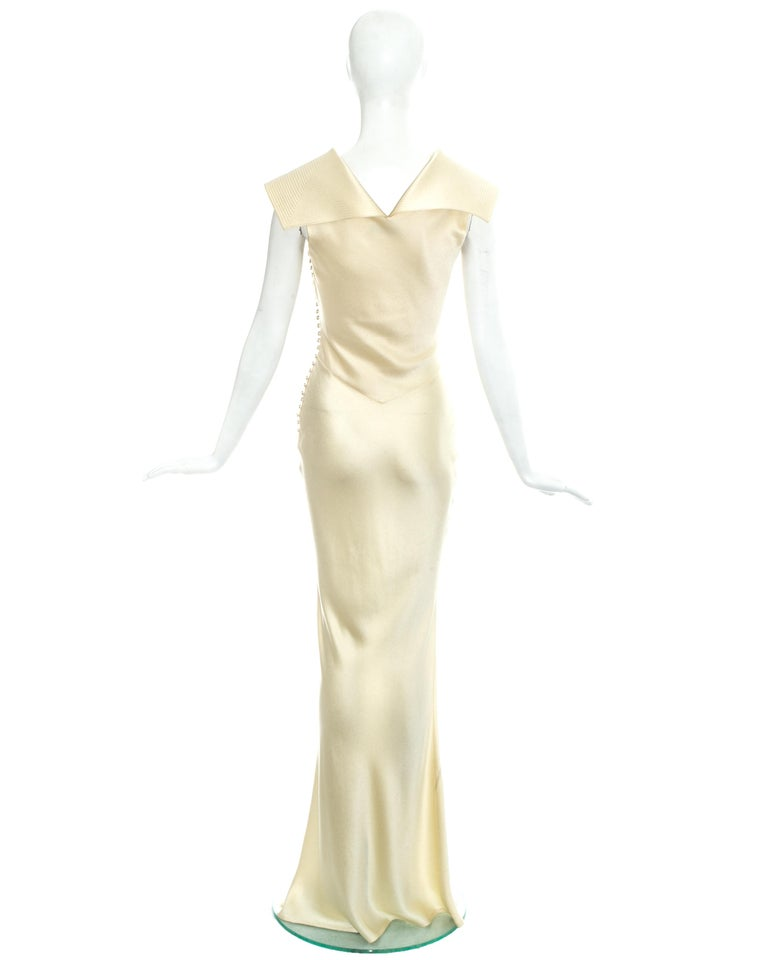 Christian Dior by John Galliano champagne silk evening dress, fw 1999 For Sale 1