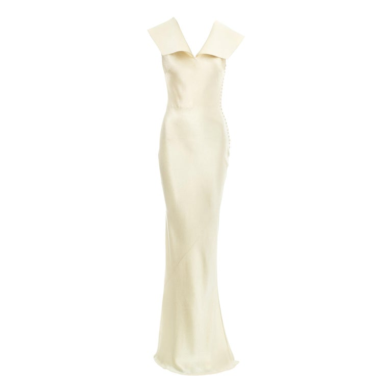 Christian Dior by John Galliano champagne silk evening dress, fw 1999 For Sale