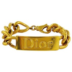 Christian Dior by John Galliano Chunky ID Tag Curb Bracelet