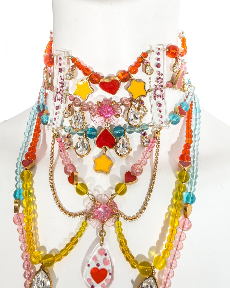 Christian Dior by John Galliano Couture chandelier choker necklace, ca. 2001 In Excellent Condition For Sale In London, London