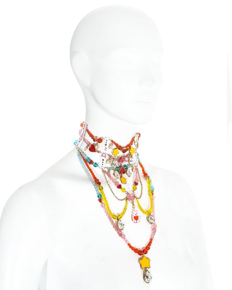 Women's Christian Dior by John Galliano Couture chandelier choker necklace, ca. 2001 For Sale