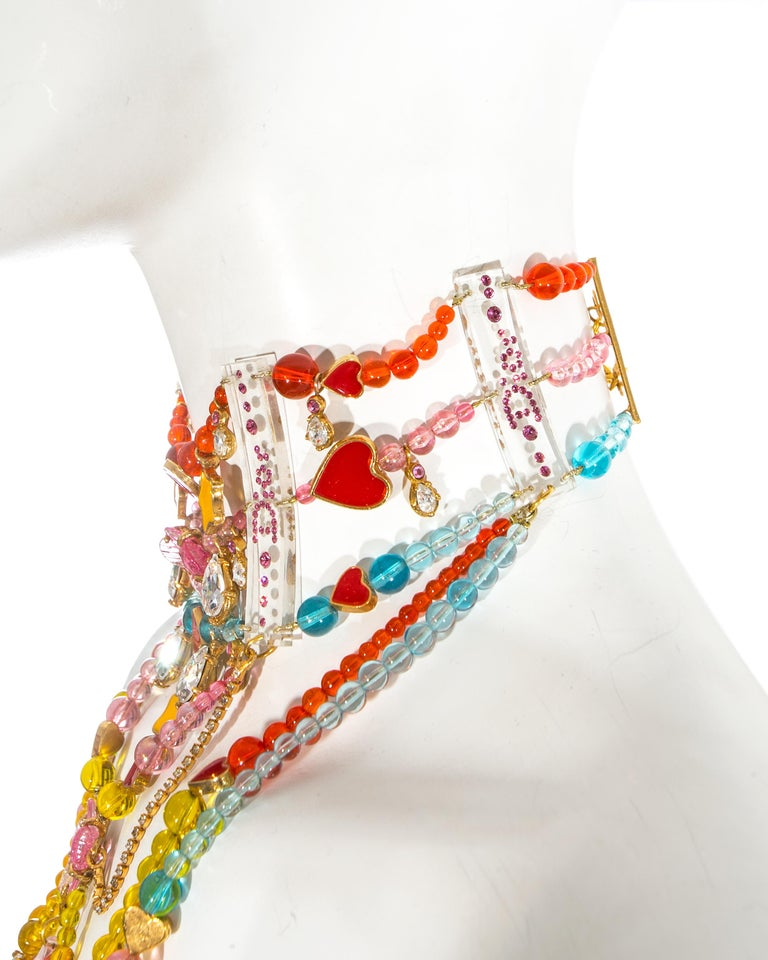 Christian Dior by John Galliano Couture chandelier choker necklace, ca. 2001 For Sale 2