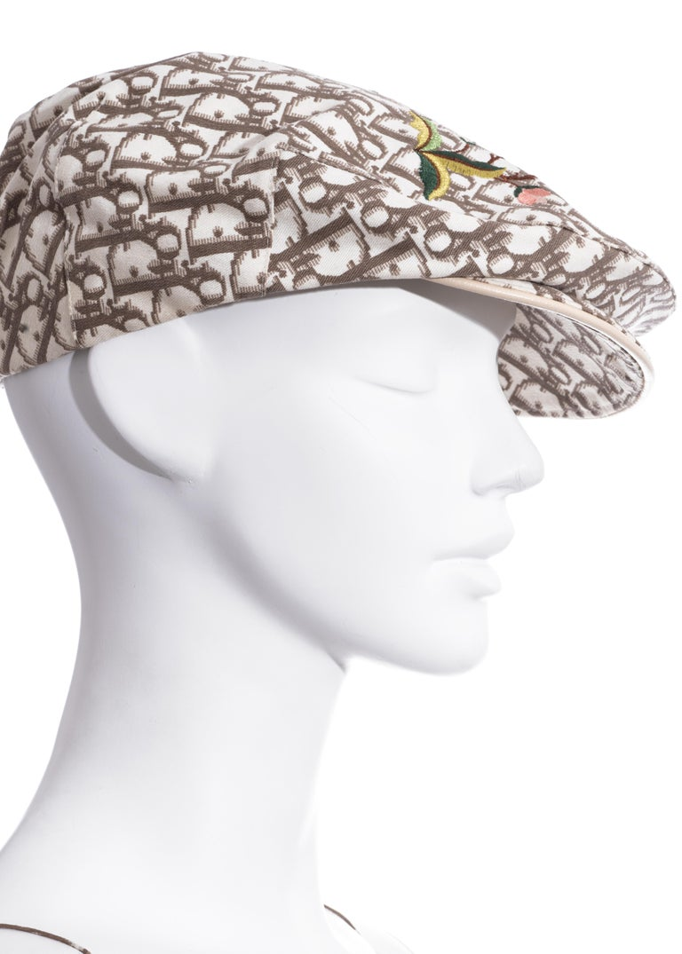 Christian Dior by John Galliano cream monogram dress and hat set, ss 2005 For Sale 1