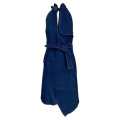Christian Dior By John Galliano Denim Halter Dress