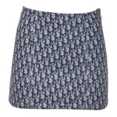Christian Dior By John Galliano Dior Oblique Jeans Mini Skirt