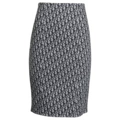 Christian Dior By John Galliano Dior Oblique Pencil Skirt