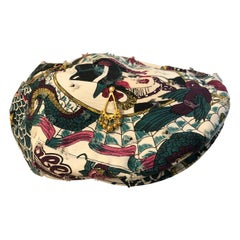 Christian Dior by John Galliano Embellished Printed Cap