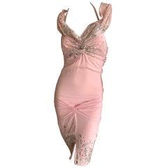Christian Dior by John Galliano Fall 2004 Raj Style Embellished Silk Dress Sz 38