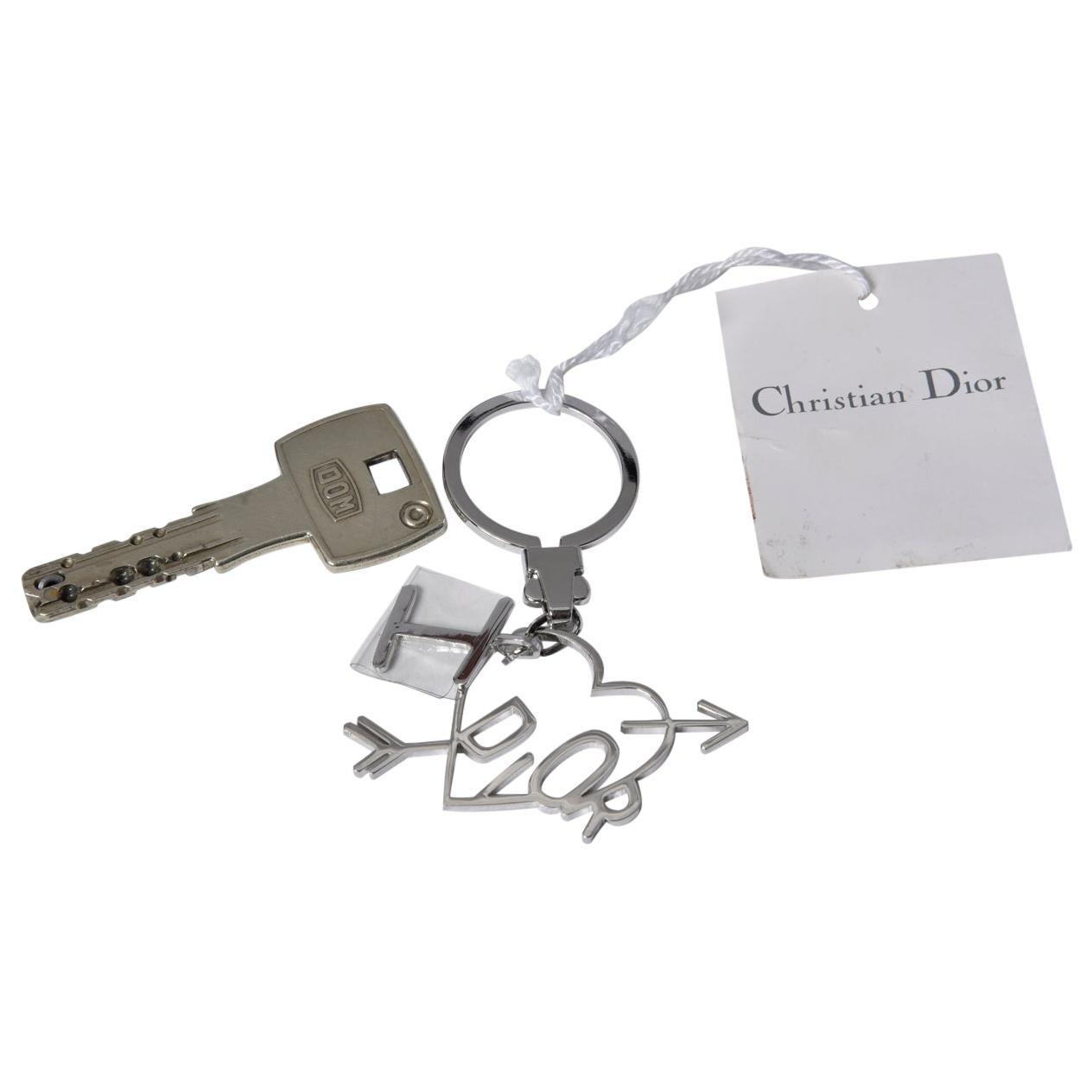 "Christian Dior By John Galliano ""I love Dior"" Keyring Charm"