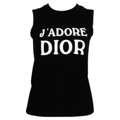Christian Dior by John Galliano Iconic Black J'Adore Dior Tank Top US Size 8