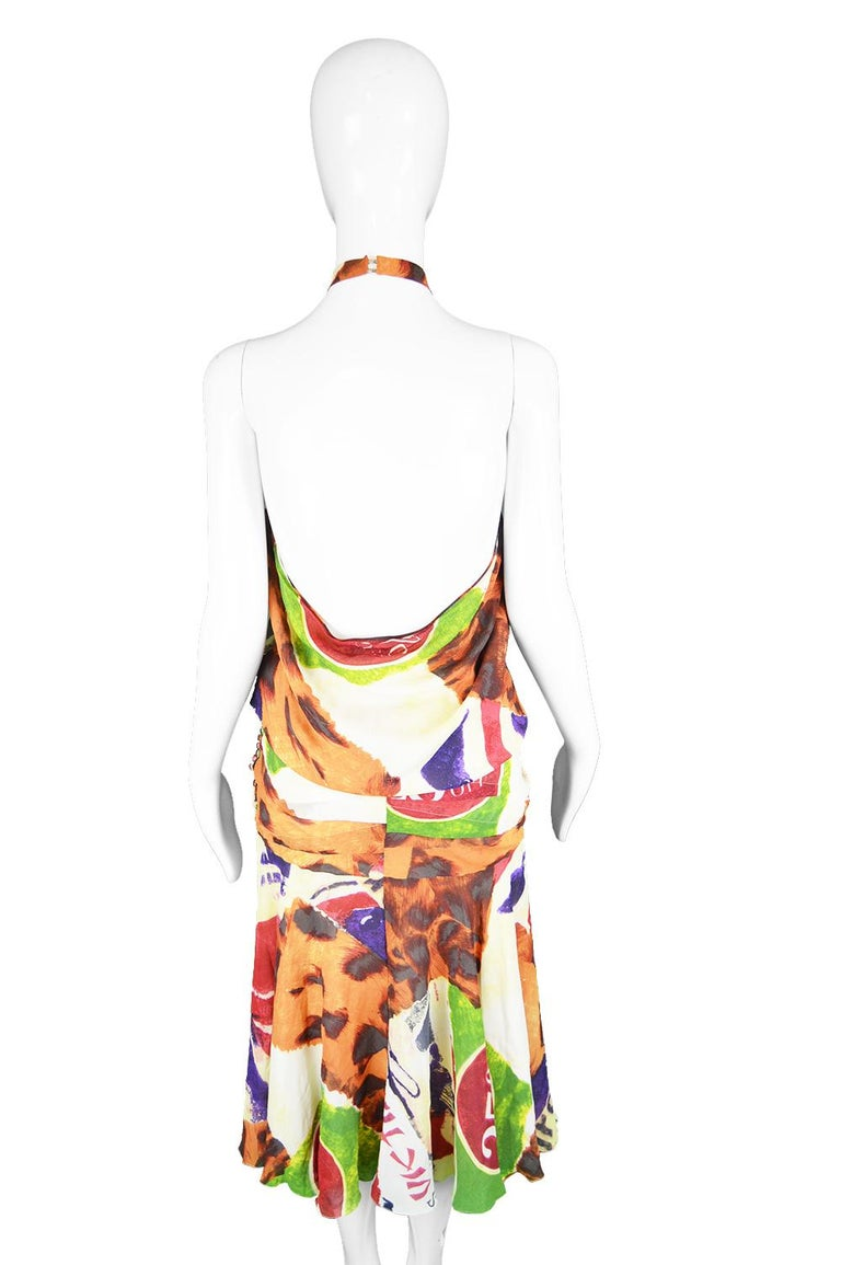 Christian Dior by John Galliano Iconic 'Fashion Victim' Silk Dress, S/S 2003 For Sale 5