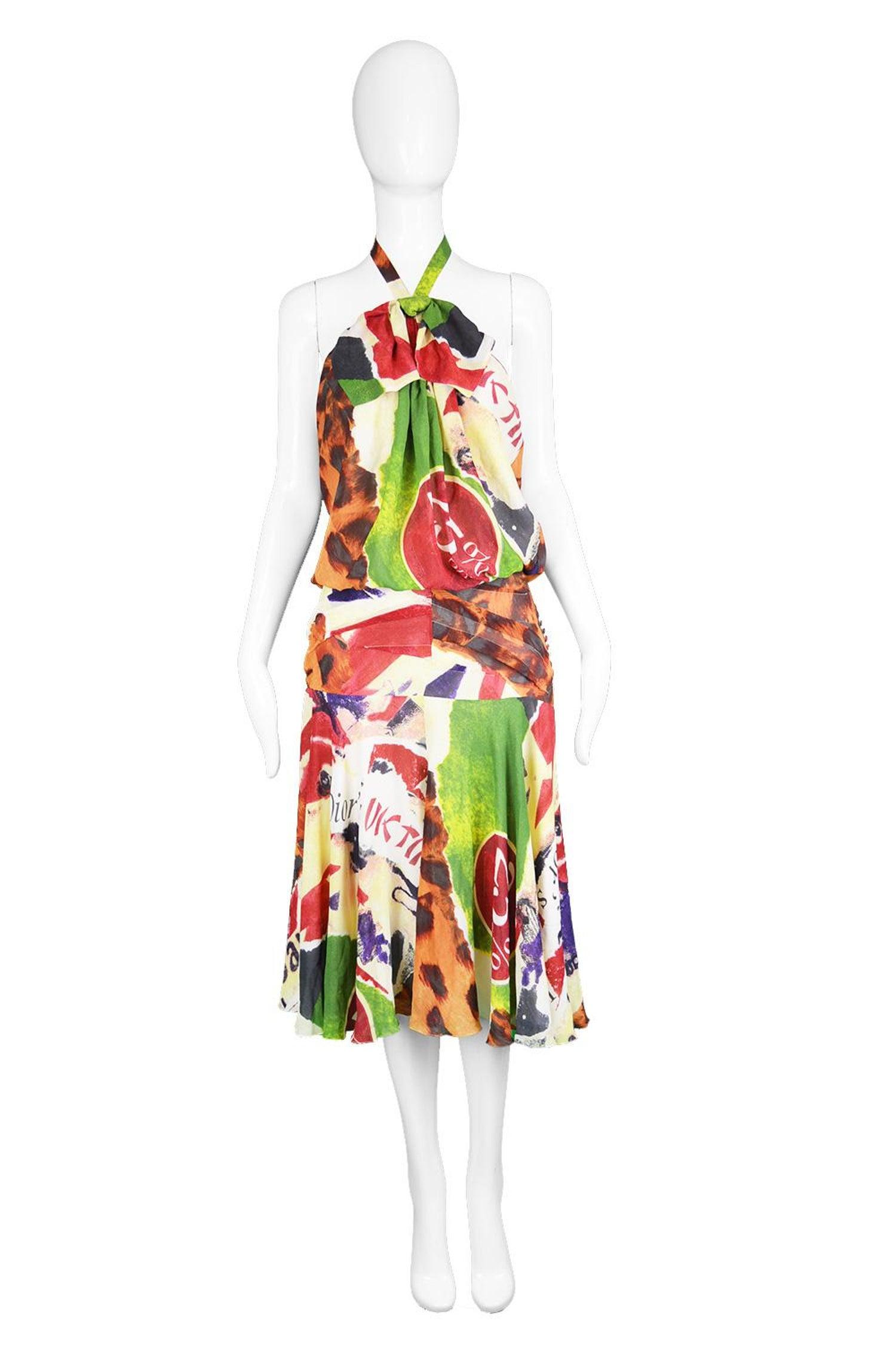 2d4aa230b91 Christian Dior by John Galliano Iconic  Fashion Victim  Silk Dress ...