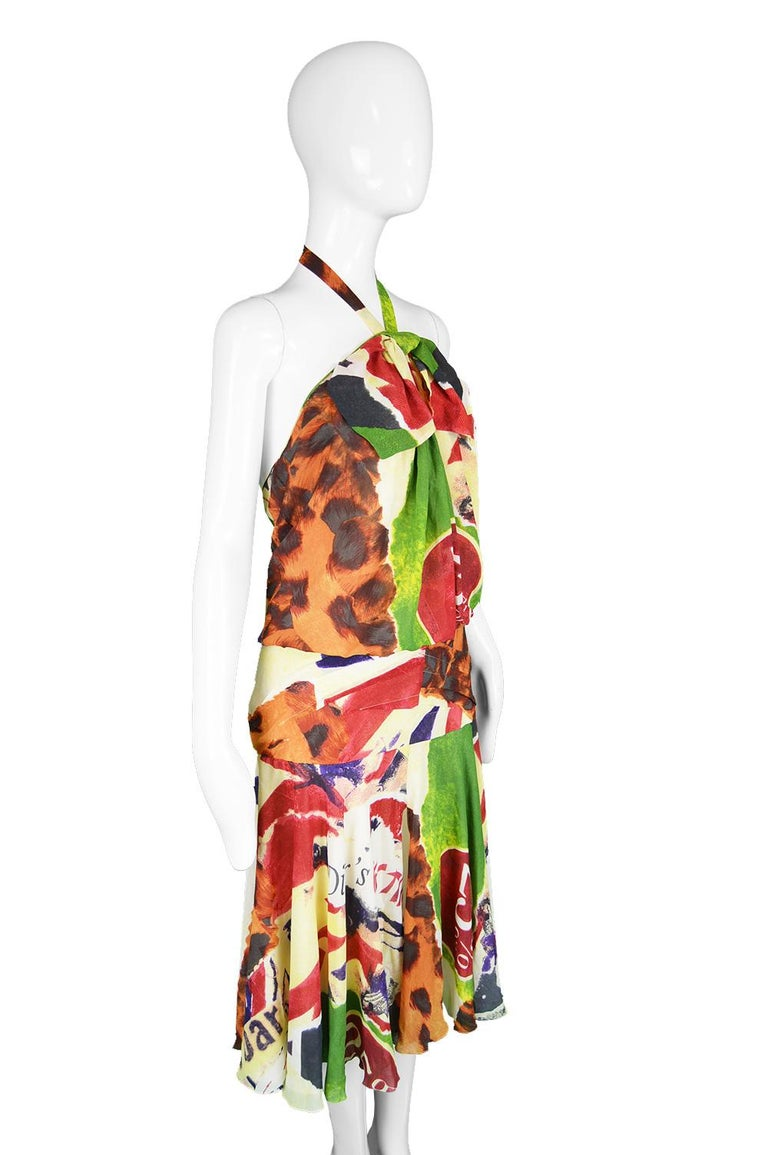 Christian Dior by John Galliano Iconic 'Fashion Victim' Silk Dress, S/S 2003 For Sale 4